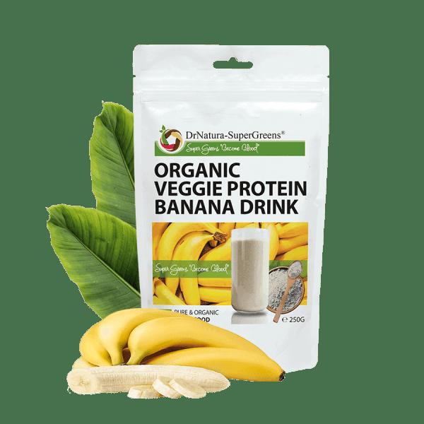 organikus banános fehérjepor
