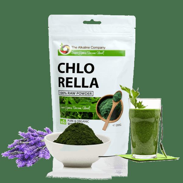Chlorella-alga-por