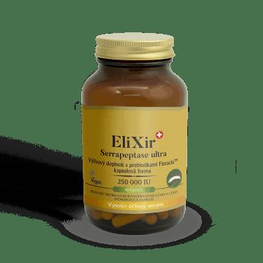 Elixir serrapeptáza rrečisťuje zúžené cievy.